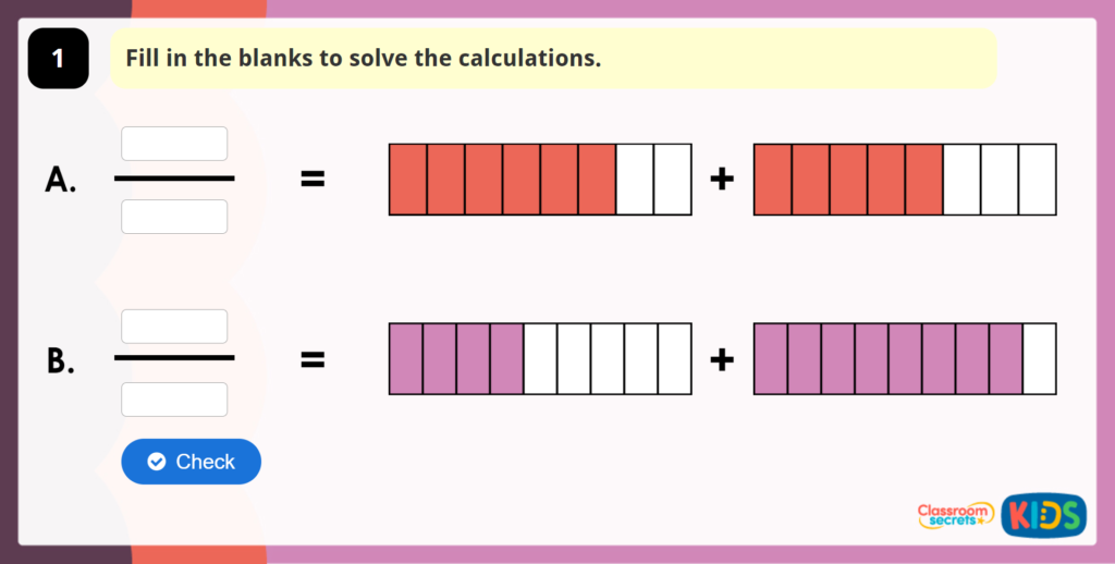 Add 2 or More Fractions