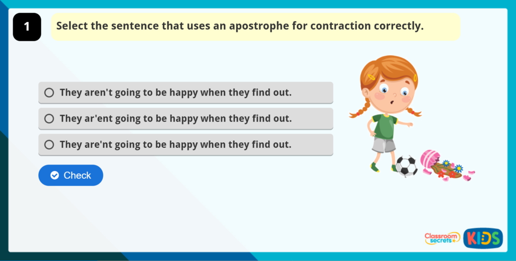 Apostrophes for Contraction