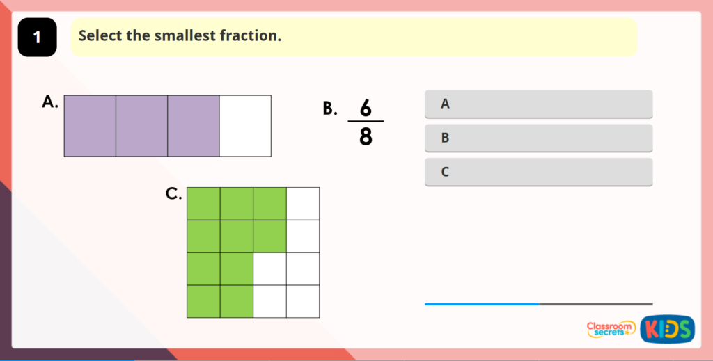 Compare and Order Fractions Less than 1