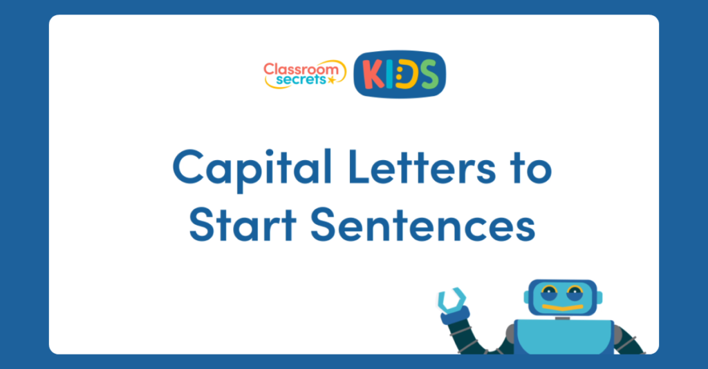 Capital Letters to Punctuate Sentences Video Tutorial