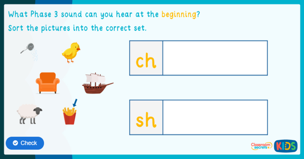 Phonics Phase 3 Identify the Sound Game 3