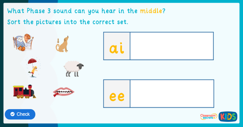 Phonics Phase 3 Identify the Sound Game 4