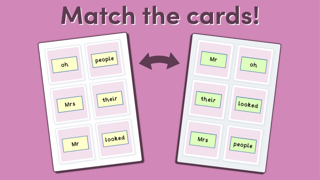 Phonics Phase 5 Tricky Words Game