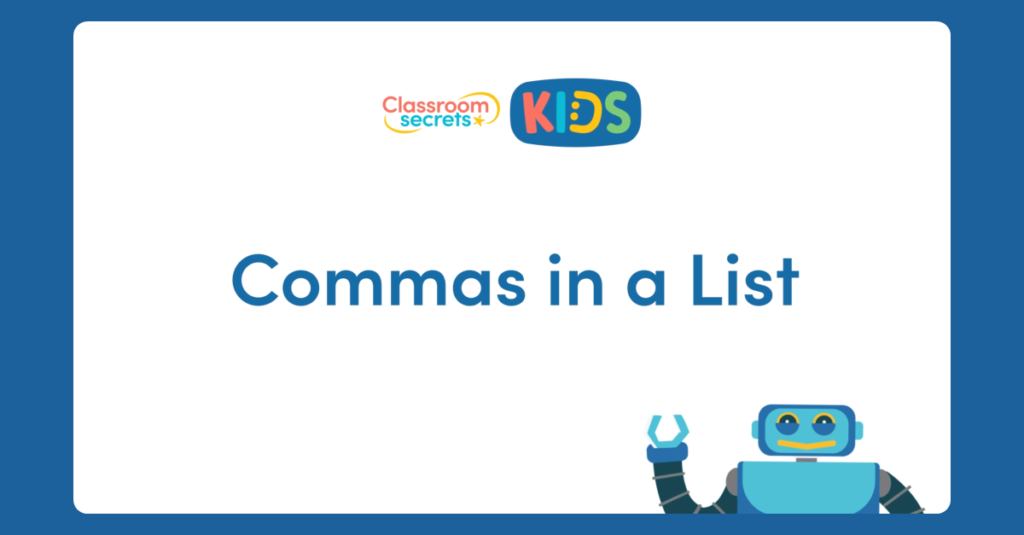 Year 2 Commas in Lists Activity