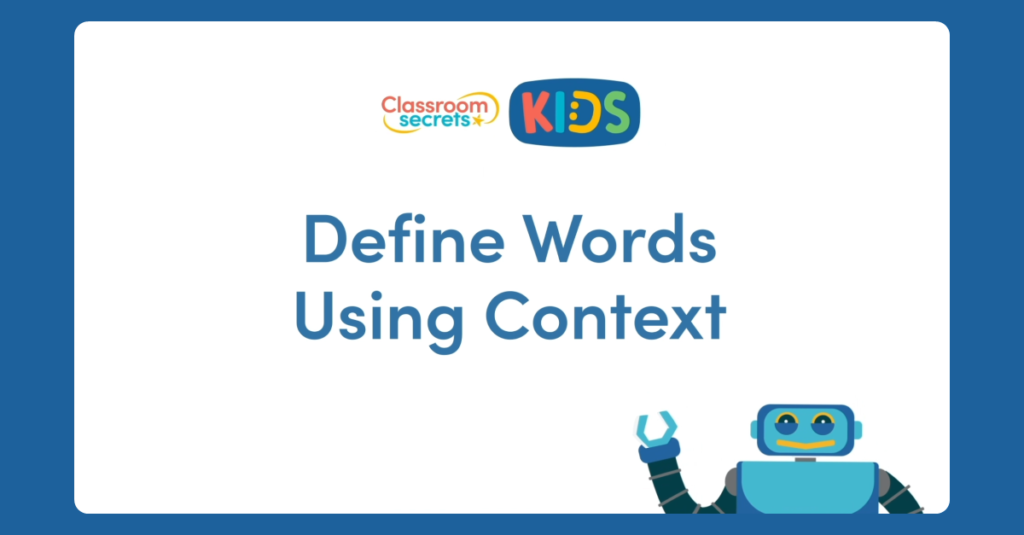 Define Words Using Context Video