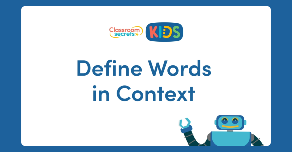 Year 3 and Year 4 Define Words in Context Video