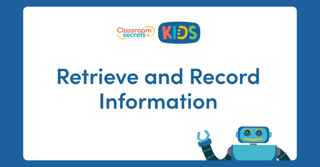 Retrieve and Record Information Video