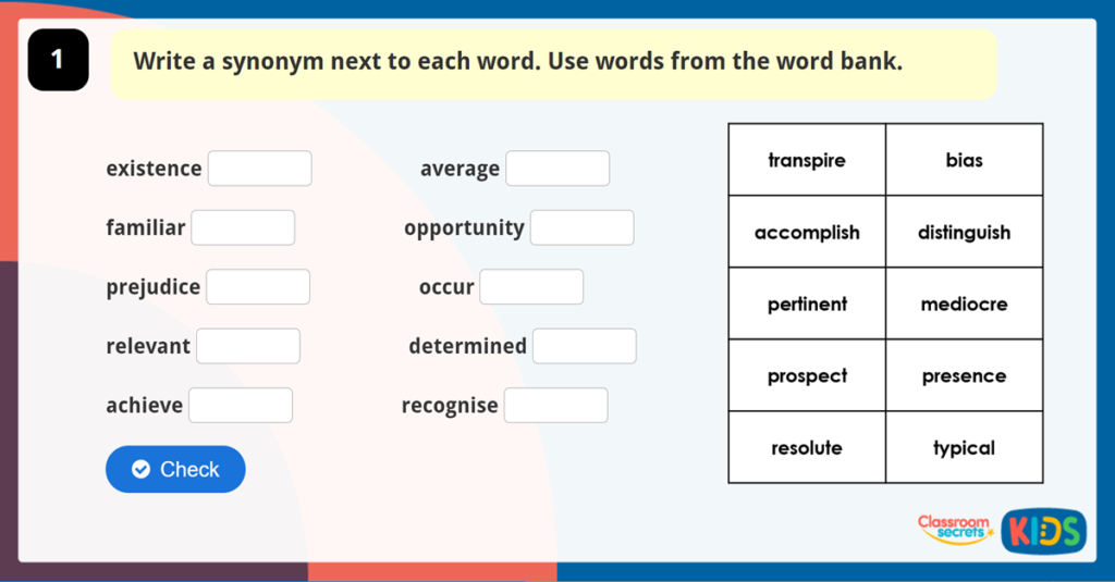 Year 6 Synonyms and Antonyms