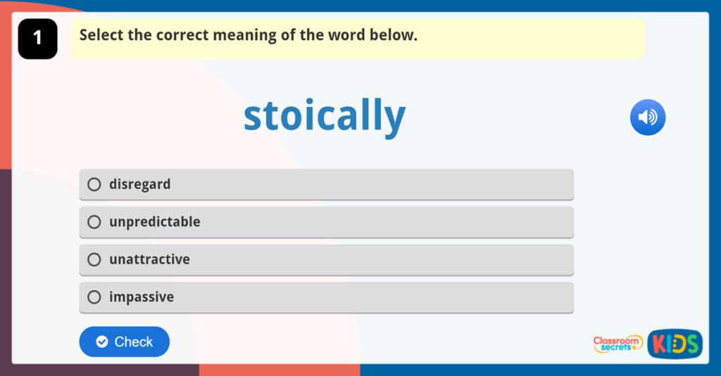 Year 6 Vocabulary Challenge 3