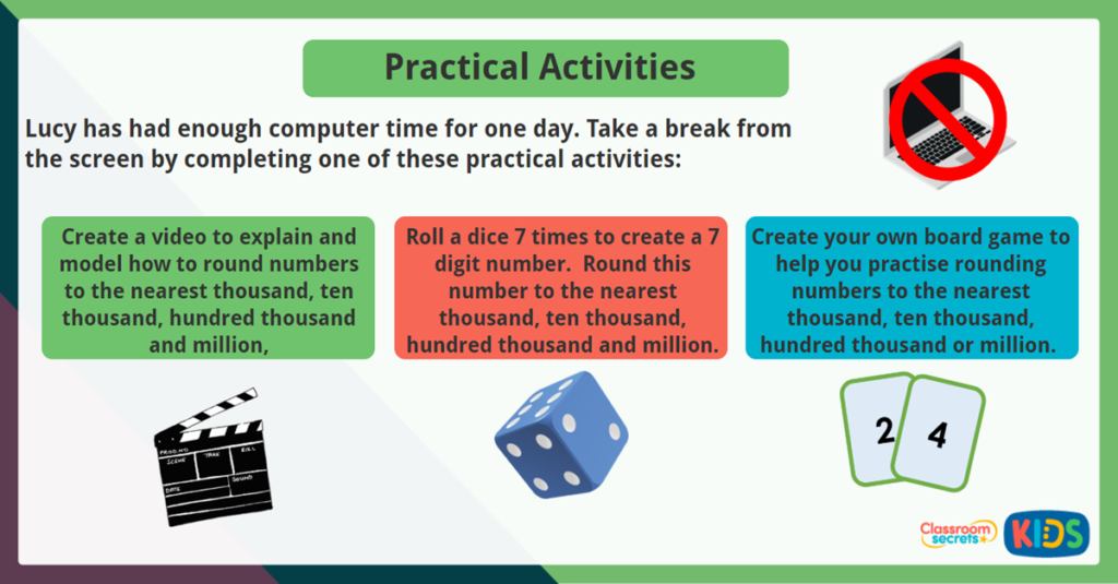 Year 6 Round Any Whole Number Practical Activities