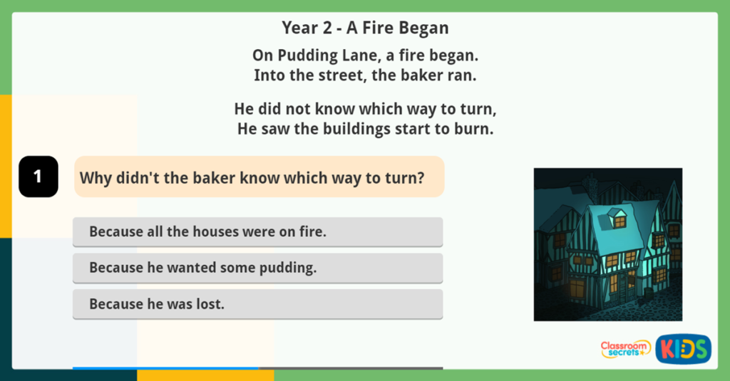 Year 2 Reading using Inference Game