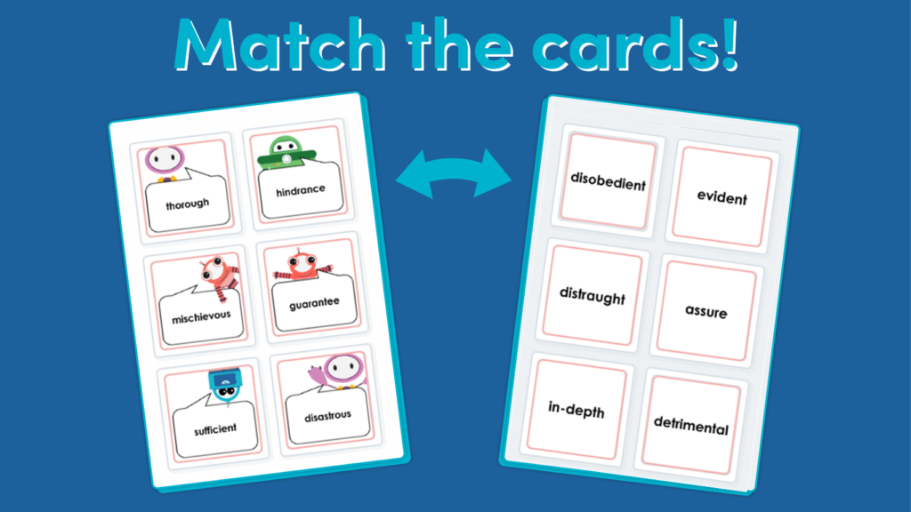 Year 6 Synonyms Matching Activity