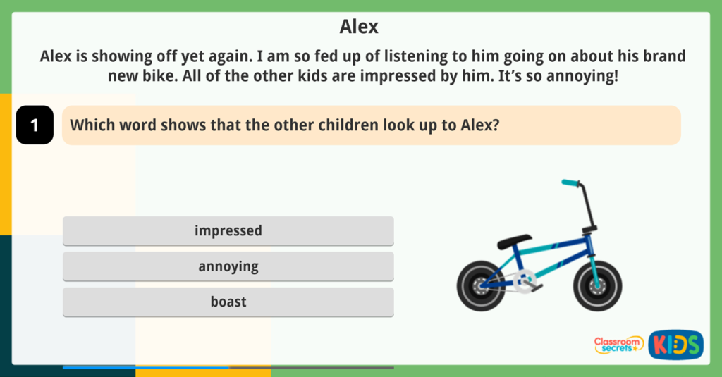 Year 2 Reading Comprehension Activity