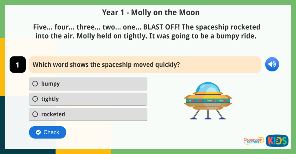 Year 1 Vocabulary Comprehension Activity