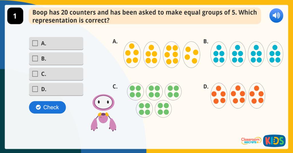 Year 1 Make Equal Groups Activity
