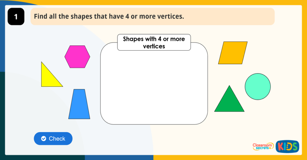 Year 2 Properties of 2D Shapes Activity