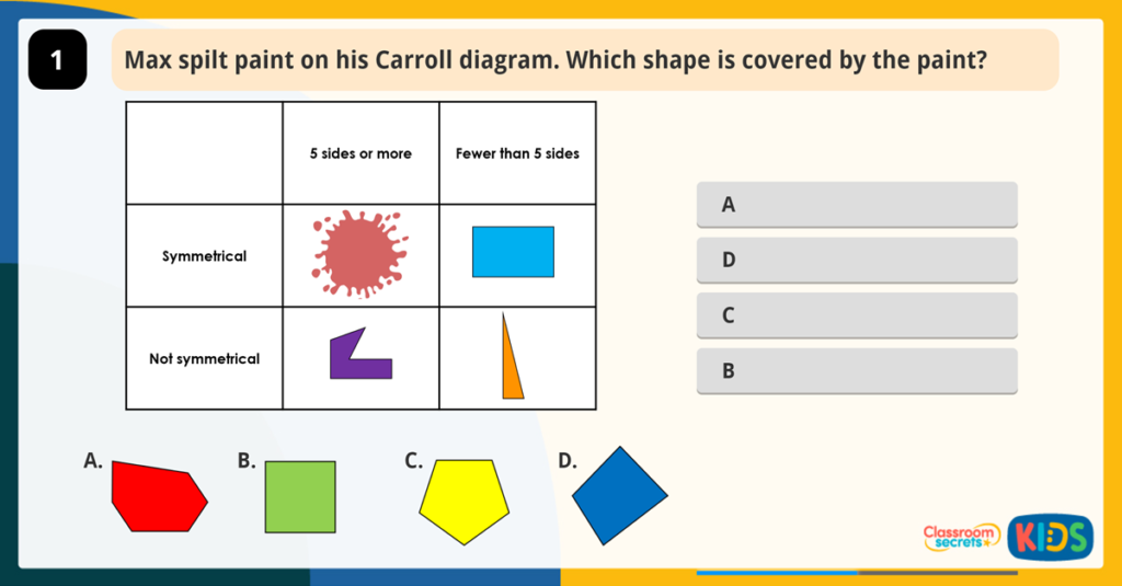 Year 2 Sort 3D 2D Shapes Activity