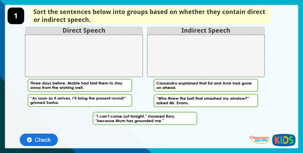 Year 4 Using Speech in Paragraphs