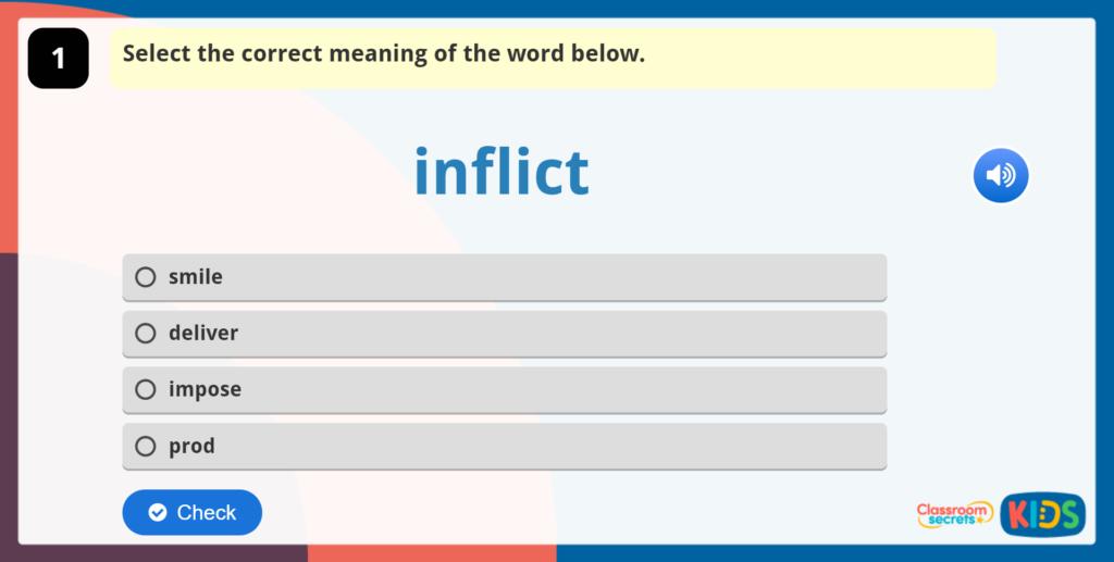 Year 5 Vocabulary Challenge 2
