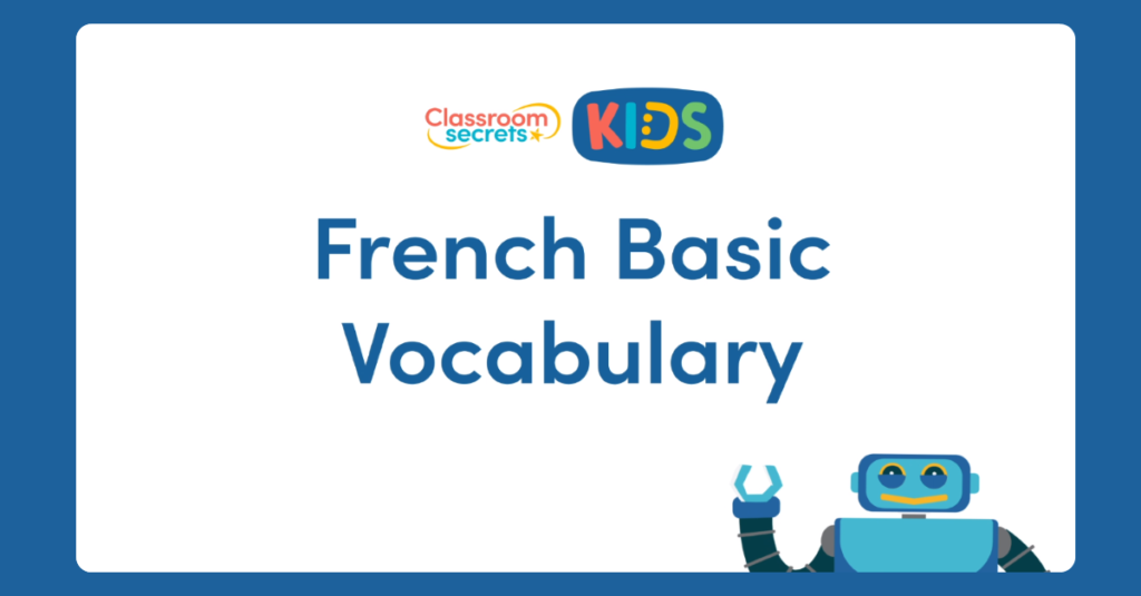 French Vocabulary Video Tutorial and questions