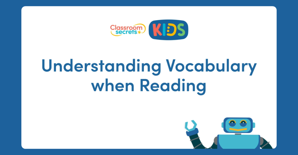 Year 1 Understanding Vocabulary when Reading Video Tutorial