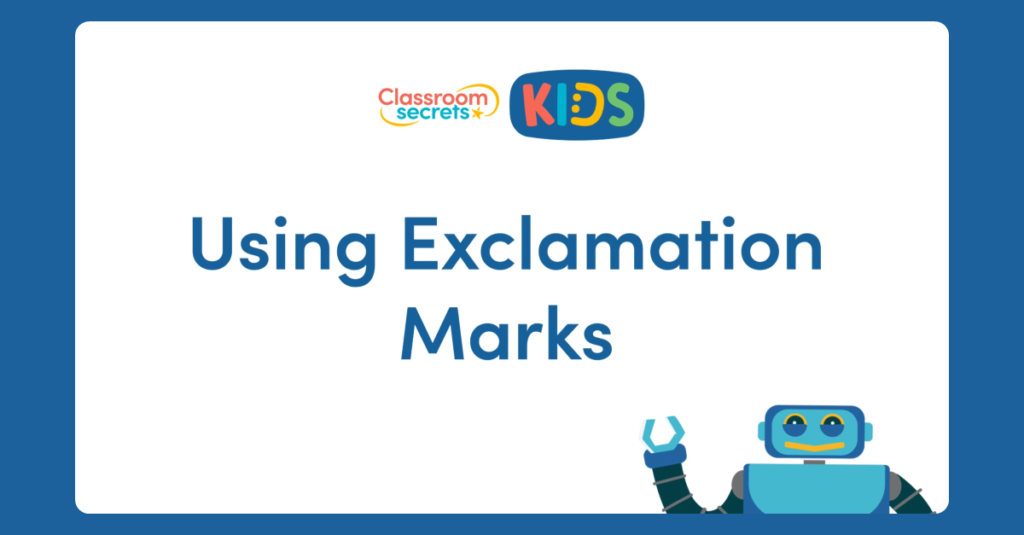 Year 1 Using Exclamation Marks Video
