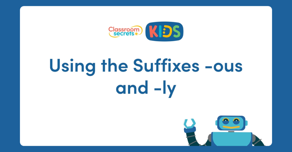 Year 4 Suffixes Video