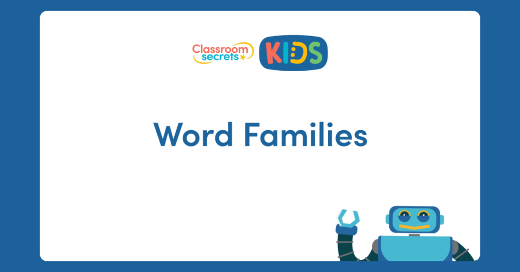 Year 3 Word Families Video Tutorial