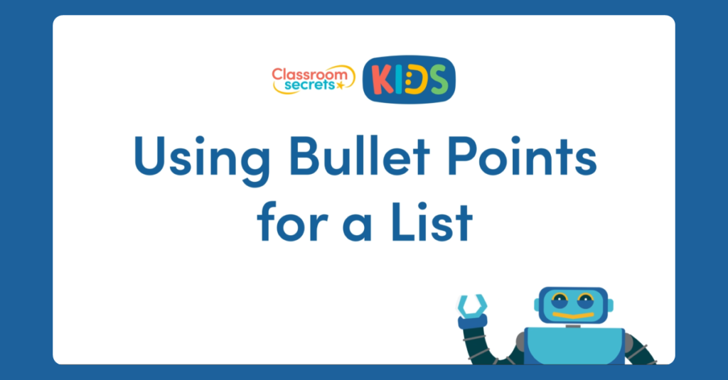 Using Bullet Points for a List Video