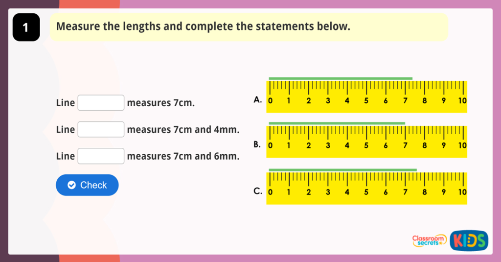 Year 3 Measure Lengths Activities