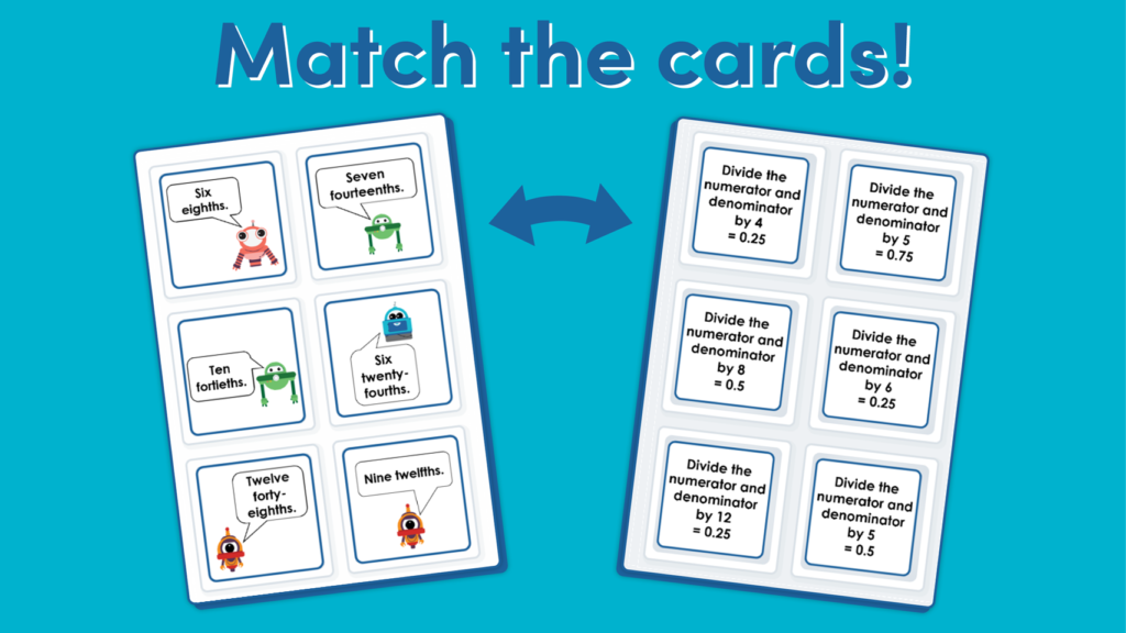 Year 4 Decimal Equivalents Matching Game