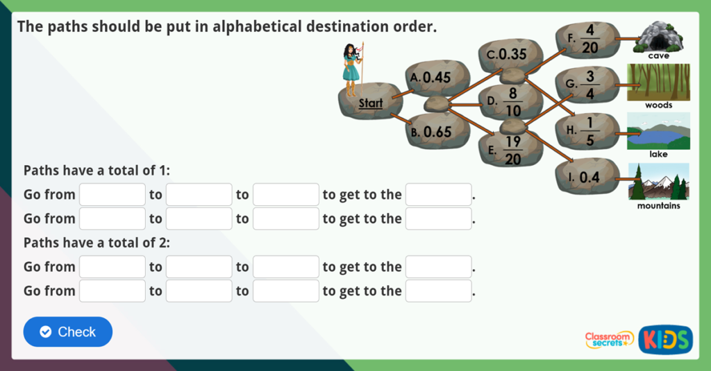 Year 6 Decimals as Fractions Challenge