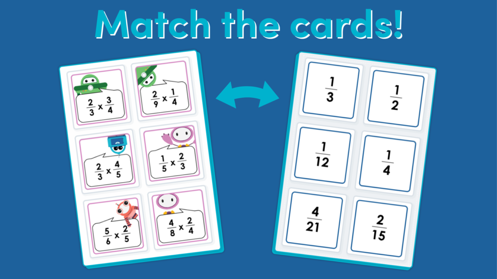 Year 6 Multiply Fractions by Fractions Game