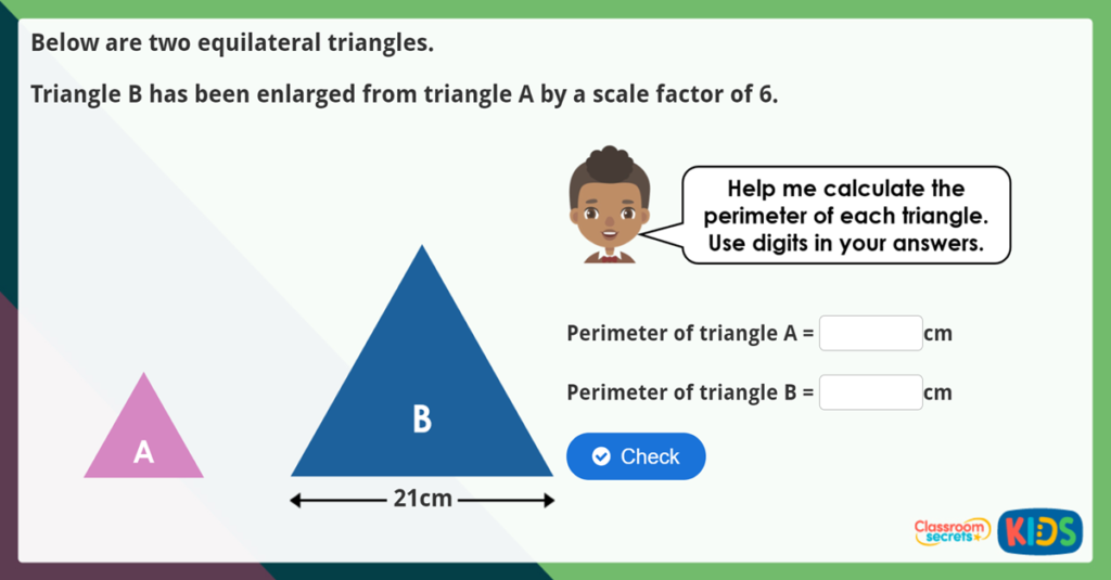 Year 6 Problems with Scale Factors Challenge