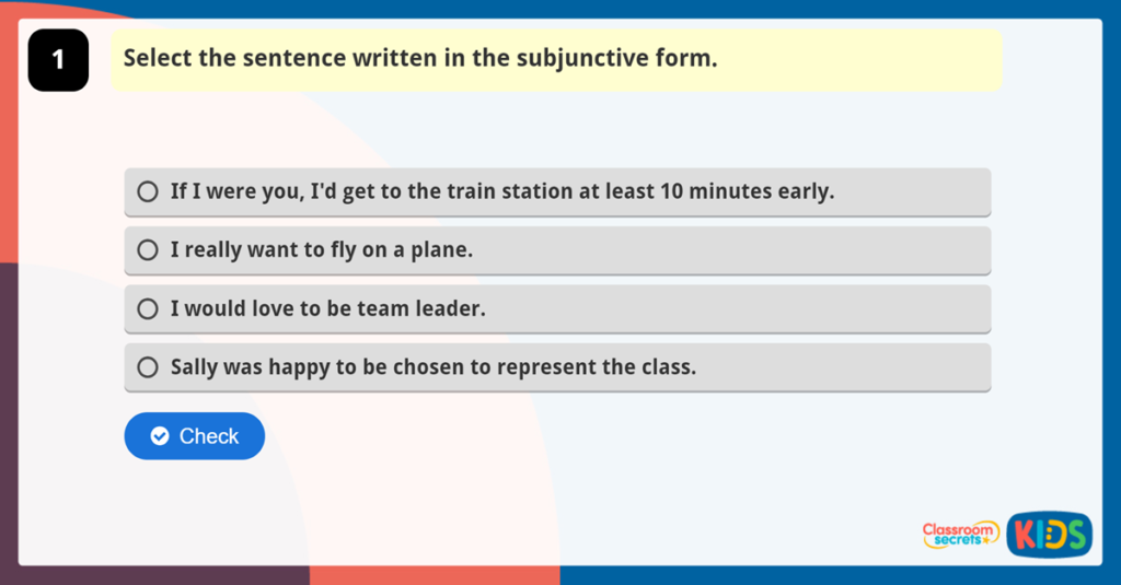 Recognise Subjunctive Form Game