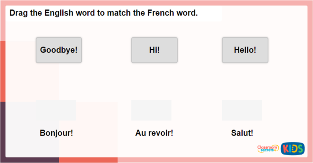 Interactive Game for KS1 French Greetings