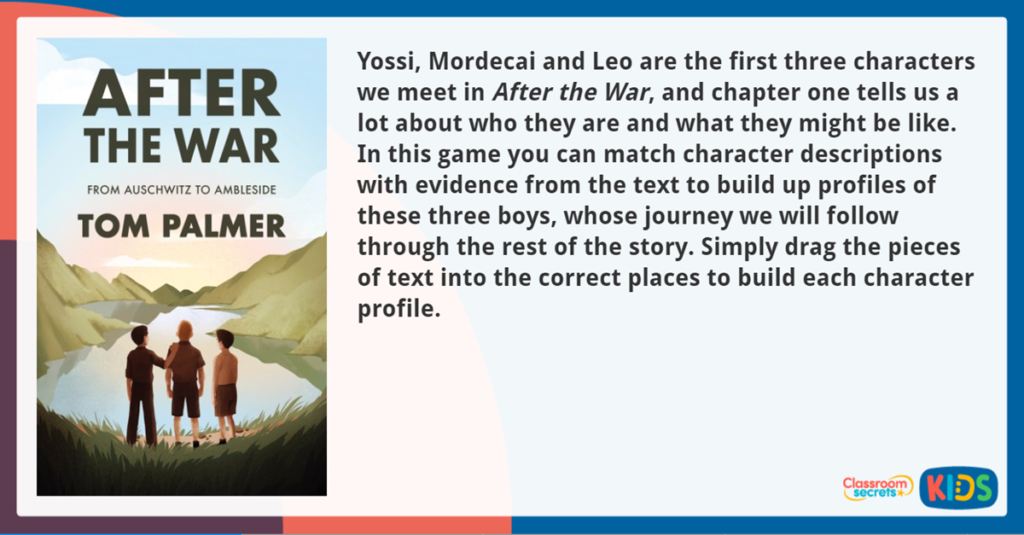After the War Character Profile Activity