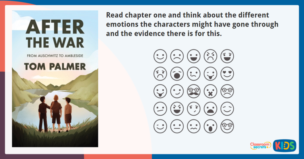 After the War Character Emotions Activity