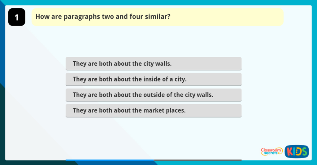 Make Comparisons within a text Reading game