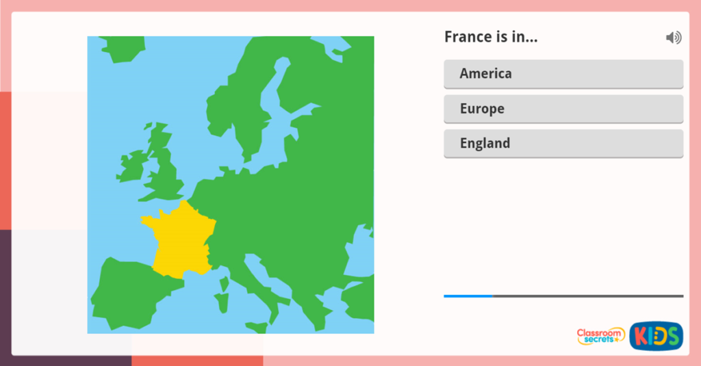 Where is France French Interactive Activity for KS1