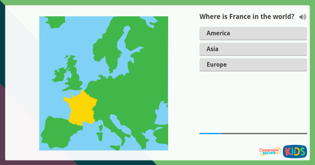 KS2 Interactive French Map and Questions