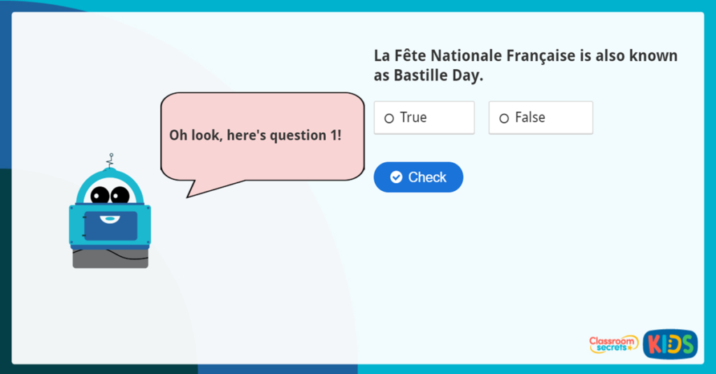 KS2 Bastille Day Quiz and questions