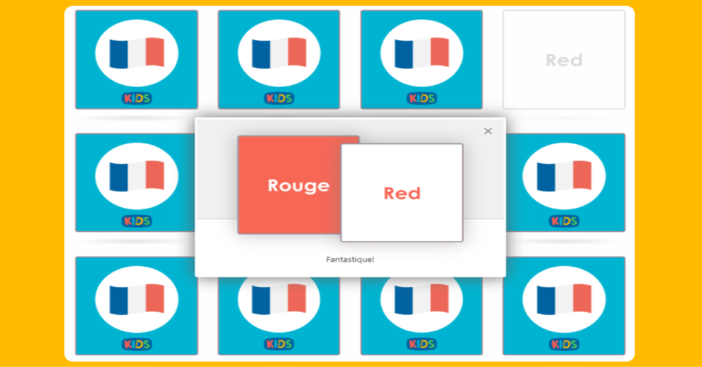 French Colours Matching Game