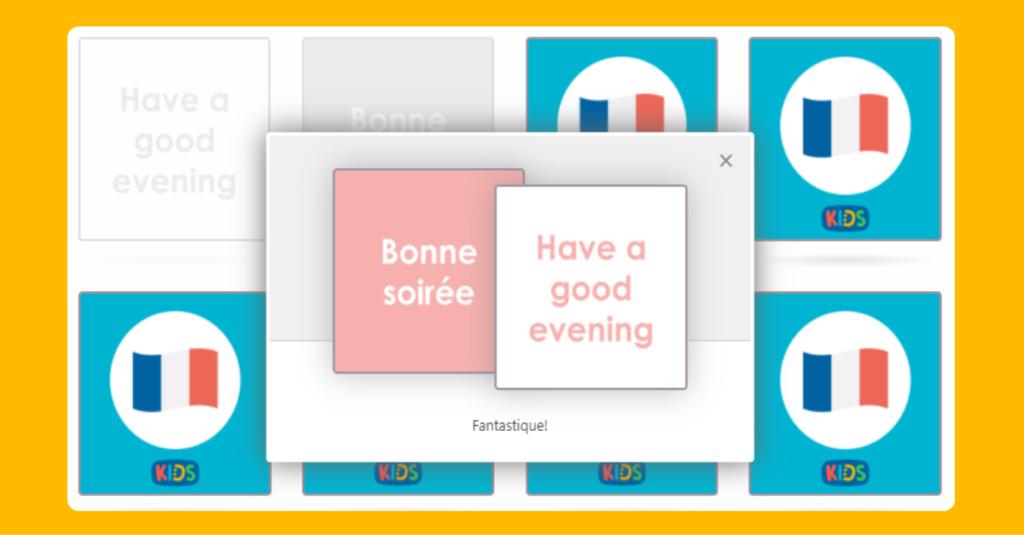 KS2 Matching French Greetings game