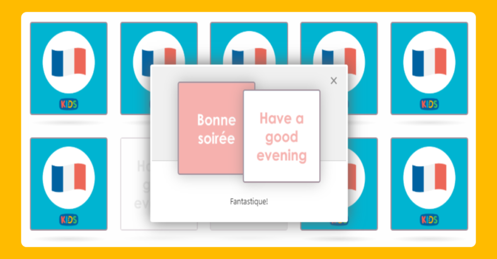 KS2 Matching Game to test your French greetings