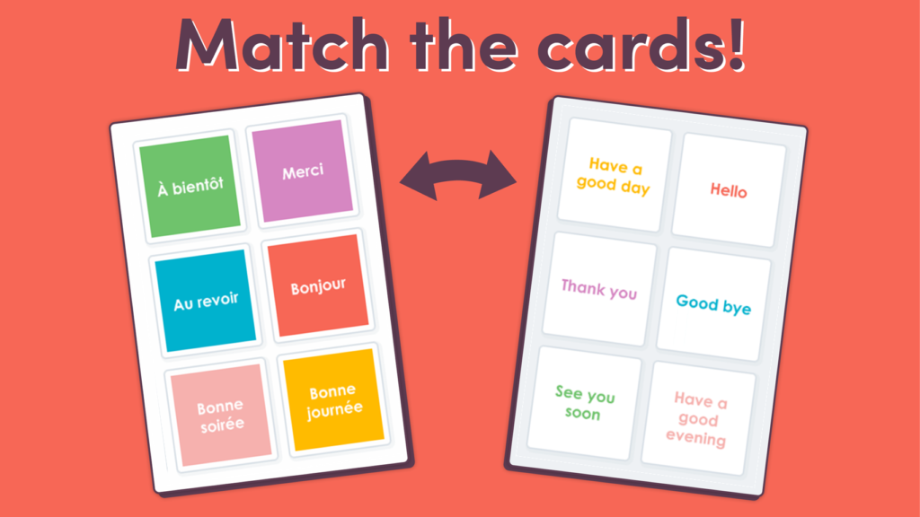 Matching Game for French Greetings