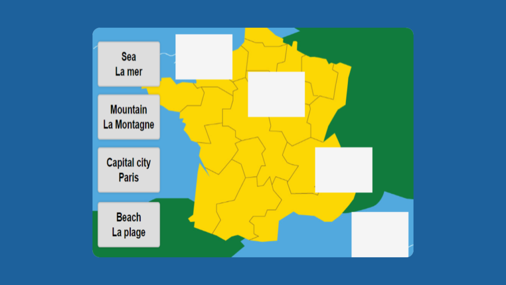 Interactive Map of France for KS1