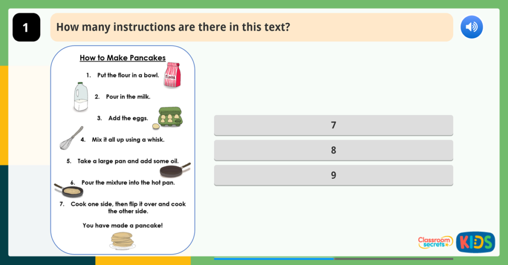 Year 1 Sequencing Events in a Text Activities