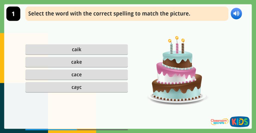 Year 1 Spelling Activities