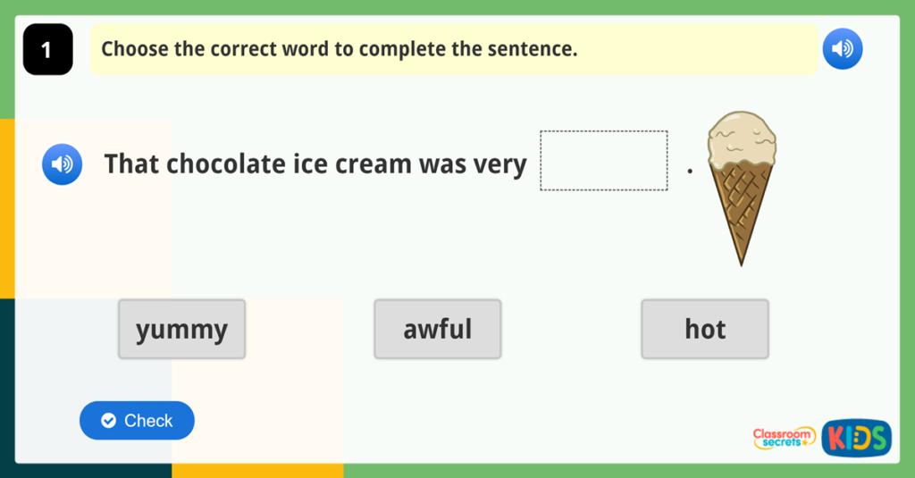 Year 1 Vocabulary Challenge 7